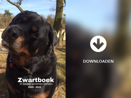 Zwartboek in beslag genomen honden 2009 - 2015